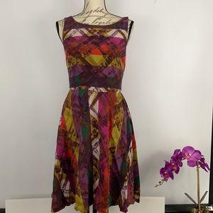 Trina Turk Multicolor  A-Line Short Sleeve Dress